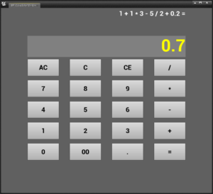 【UE4】簡単な電卓を作ってみる~EditorUtilityWidgetを用いて~ 【★★★】