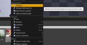 【UE4】【C++】メモ:Reimport可能なアセットをBlueprintからReimportする